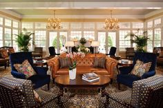 10 of the Best Resorts, Inns, and Hotels in North Carolina: Pinehurst Pinehurst North Carolina, North Carolina Resorts, Hotel Inn, Hotel Lobby, Best Resorts, Hotels And Resorts, Pinehurst Resort, Grand Hotel, Living Room Inspiration