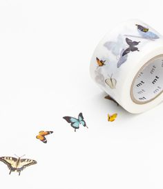 washi tape with butterflies