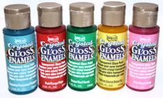 DecoArt Americana Crystal Gloss Enamels, 2 oz Painting Crafts division of Hofcraft The Painters Source Wine Bottle Crafts, Mason Jar Crafts, Bottle Art, Tinted Mason Jars, Mason Jar Wine, Bottles And Jars, Glass Jars, Baby Shower, Glass Paint