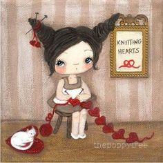 Вязание и девочки