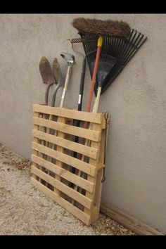 LOVE this idea. Sanded and stained could Look really cool propped Against shop or shed