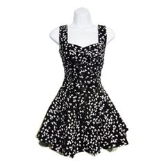 Think this would look cute as an apron!  H & R London Women's Butterfly With Lace Ribbon Mini Dress (Black / White)