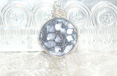 Hand wrapped Czech Glass Button Pendant by LavishIndulgences, $23.00