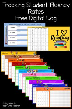 These FREE printable or digital fluency logs are a great way to track student progress. Perfect for upper elementary students.