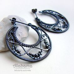 I love these sculptural wirework earrings. Wild waves Biżuteria Kolczyki Alabama