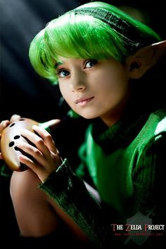 Saria with her ocarina - The Legend of Zelda: Ocarina of Time; The Zelda Project cosplay