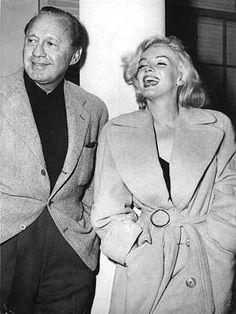 Marilyn Monroe in an oversized coat