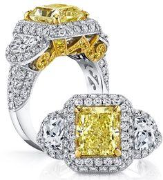 Vanna K SoleAmore fancy yellow diamond ring