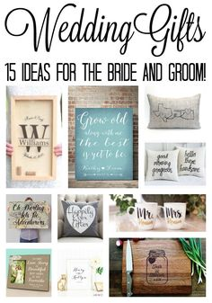 Diy monogram wedding gift idea craftaholics anonymous pinterest great wedding gift ideas for the bride and groom perfect for bridal showers as well junglespirit Image collections