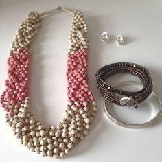 Accessories of the day. Sunrise pearl necklace by @31 Bits, Kenyan elephant wrap by @sasadesignsbythedeaf, and Classic Ida earrings by @Foxy Originals #giveback #sparkle #fairtrade #shoplocal #aotd #jotd #ootd #originsmatter