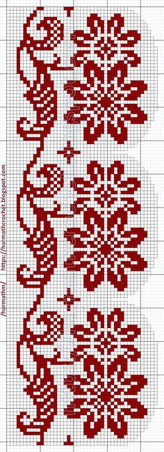 Crochet Cross, Filet Crochet, Crochet Lace, Cross Stitch Bookmarks, Cross Stitch Patterns, Crochet Patterns, Double Knitting, Plastic Canvas Patterns, Color Patterns