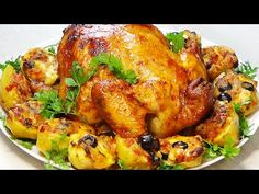 Teraz varím kuracie mäso iba takto! Recept na podmanenie svojej rodiny! - YouTube All Recipes Chicken, Turkey Recipes, How To Cook Chicken, Baked Jerk Chicken, Roasted Chicken, Baked Whole Fish, Food Dishes, Main Dishes, My Favorite Food