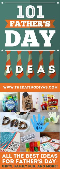 I'm so excited to use some of these amazing Father's Day Ideas! Great resource! www.TheDatingDivas.com