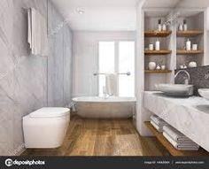 Znalezione obrazy dla zapytania łazienka marmur i drewno