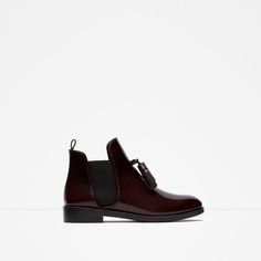 Image 1 of FLAT BOOTIES WITH TASSEL from Zara