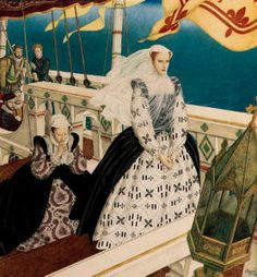 Mary, Queen of Scots by Edmund Dulac, cover of American Weekly Magazine, 10 June 1934 Isabel Tudor, Isabel I, Mary Queen Of Scots, Queen Mary, Tudor History, British History, Leicester, Rey Enrique, Reign