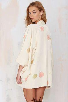Vintage Aiko Floral Kimono - Jackets + Coats