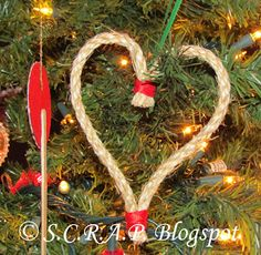 ~ Scraps Creatively Reused and Recycled Art Projects: Simple Rope Heart Ornament Christmas Ornaments For Students, Yule Traditions, Recycled Art Projects, Heart Ornament, Wedding Signs, Scrap, Arts And Crafts, Simple, Recycling Ideas