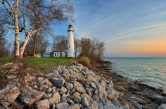 Point Aux Barques Lighthouse - Port Hope , Michigan   by Michigan Nut