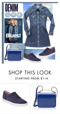 """Blue Jean Baby"" by kleinwillwin ❤ liked on Polyvore featuring mode, Alima, Kate Spade, AG Adriano Goldschmied, Marni, women's clothing, women, female, woman en misses"