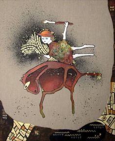 "Saatchi Art Artist Jette Reinert; Painting, ""Marys night ride  / SOLD"" #art"