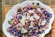 Roasted Cabbage Slaw with hazelnuts, guyere, red & savoy cabbage.