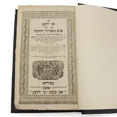 Pnei Yehoshua Hebrew Book, Furth, 1766, Judaica.