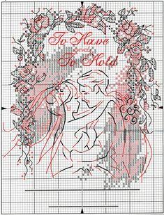 Схема вышивки крестом Годовщина свадьбы