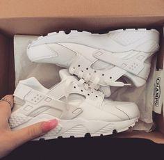 shoes nike huarache white sneakers