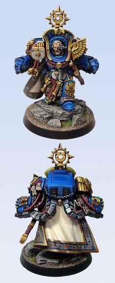 I do love this Marneus Calgar mini... Nice freehand work!