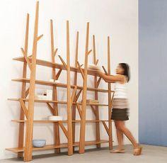 organic design wooden shelf