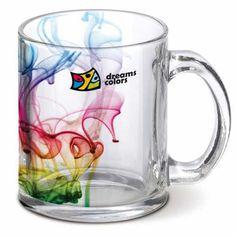 Custom Made Glass Coffee Mug Custom Text Mug by PrintingCraft