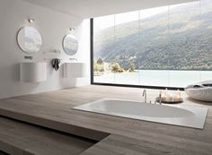 Inspiratie/ Ideeën: Moderne badkamer met moderne badkamermeubels