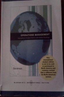 Operations Management  Alternate Version, 978-0071265249, William J. Stevenson, McGraw-Hill Education Singapore; 9th edition