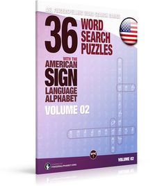 *** NEW RELEASE ***  ASL Fingerspelling Games – 36 Word Search Puzzles with the American Sign Language Alphabet: Volume 02   *** Fingerspelling Word Search Games for Adults ***