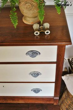 Wood/White Dresser and Milk Paint Dining Table Makeovers