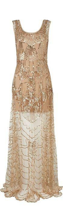 Beautiful Vintage Gold Dress