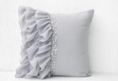 decorative pillows silver - Google Search