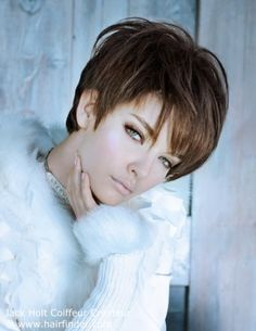 choppy pixie cut - the frosted ends give even straight hair visual movement @agirlnamednat