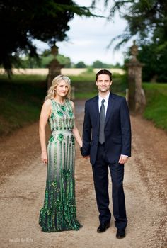 Emerald Green Jenny Packham Dress #coloroftheyear