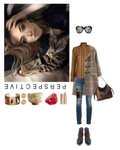 """""""Untitled #728"""" by krahmmm ❤ liked on Polyvore featuring Dolce&Gabbana, Marco de Vincenzo, Miista, Karen Walker, Charlotte Tilbury, Lizzie Fortunato and Versace"""