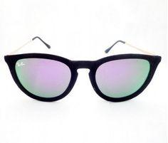 óculos ray ban erika velvet veludo lente lilás frete grátis