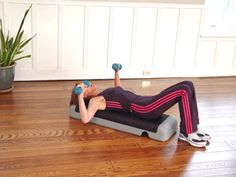Chest press: chest, triceps