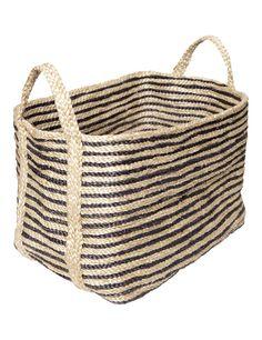 The Dharma Door USA - Large Jute Basket - Charcoal Stripe, $199.00 (http://www.thedharmadoorusa.com/large-jute-basket-charcoal-stripe/)