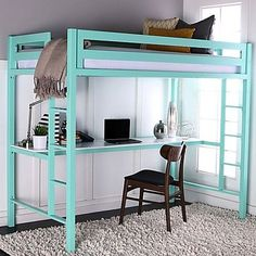 17 Stylish Loft Beds for Adults Having loft beds in your bedroom may feel like an unsophisticated throwback to your days of bunking with other people in a dorm, Childrens Bunk Beds, Kids Bunk Beds, Childrens Bedroom, Bedroom Loft, Kids Bedroom, Bedroom Decor, Bedroom Ideas, Bedroom Storage, Master Bedroom