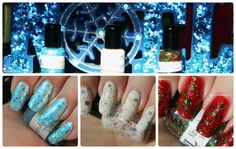 Nails By Laura (Joyful Noise) Winter Nail Polish Swatches& Review Part #1  http://stephanielouiseatb.blogspot.com/2012/12/nails-by-laura-joyful-noise-winter-nail.html Manicure, Nail Polish, Holiday, Winter