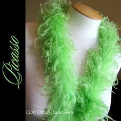 1ft 12inch Lime GREEN Boutique Curly Ostrich by CurlyOstrich, $6.75
