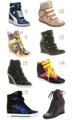 26a07f3fff0f Awesome Dream List of Hi top wedge sneaker eyecandy 9 to 16  WedgeSneakers   HiTops