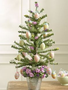Easter tree in a tin