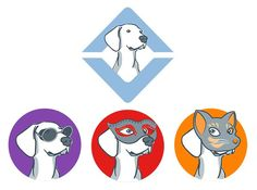 Design a icon / main character for UpDog, the mobile app by kimberart